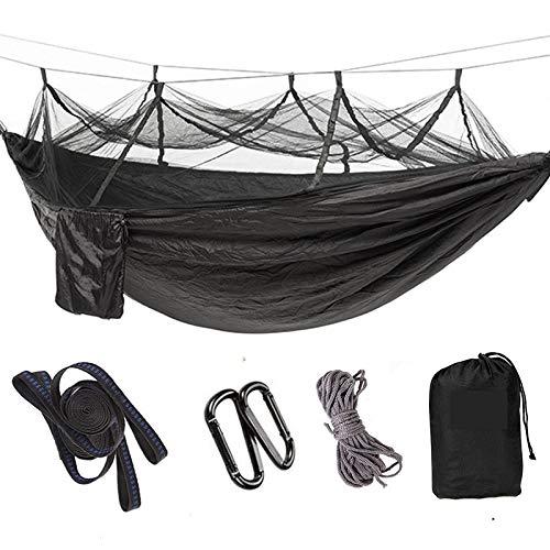Noir  DMMW Hamac, avec moustiquaire Hamac Ultra léger Hamac de Camping Hamac extérieur Hamac de Loisirs pour la Famille