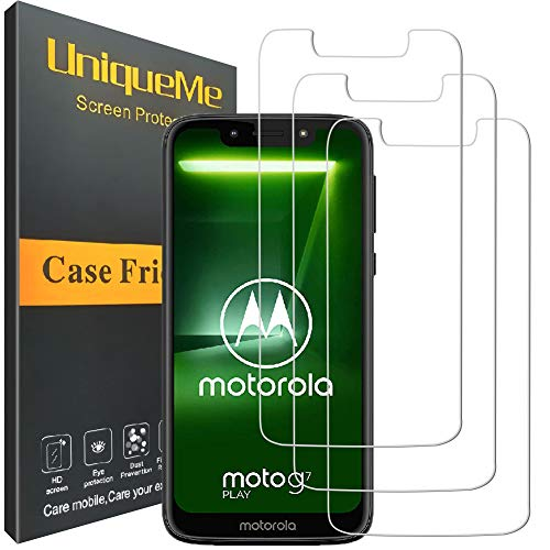 [3 Pack] INGLE Compatible with Motorola Moto G7 Play Screen Protector,9H Hardness Bubble Free Tempered Glass with Lifetime Replacement Warranty