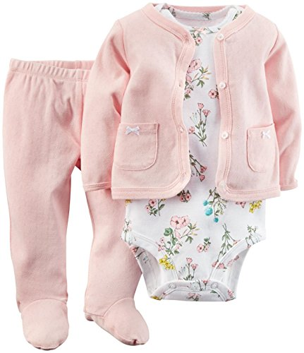 Carters Baby Girls Footed Set