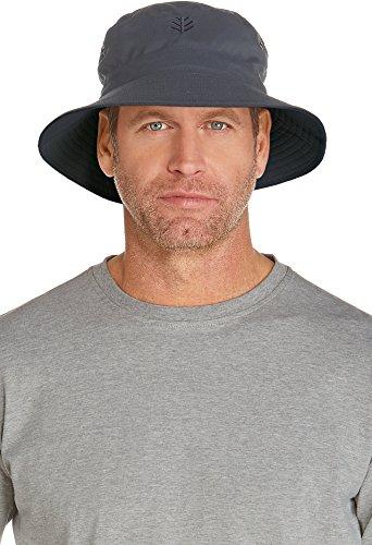 Coolibar UPF 50+ Men's Reversible Bucket Hat - Sun (Upf 50 Booney Hat)