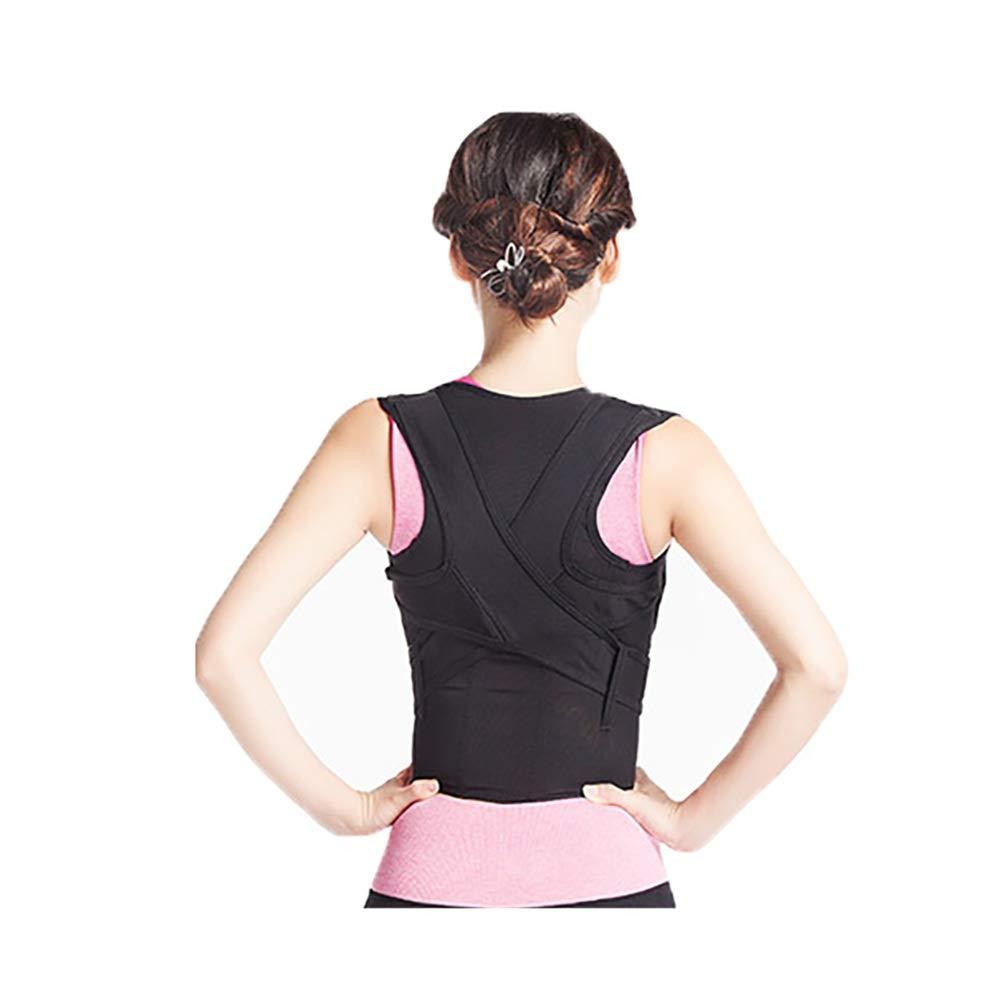 Corrector de postura Support Brace for Back Shoulder, Posture Corrector Shape The Perfect Body Ergonomic Design Neck Pain Relief Clavicle-Black (Size : S54-66cm)