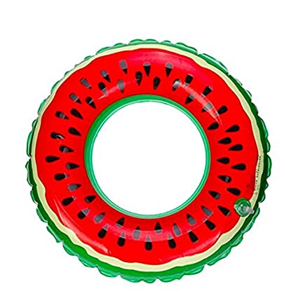 Quate Watermelon Flotador Anillo de Natación, Asiento Hinchable Barco Piscina Juguetes Seguridad Doble Protección para