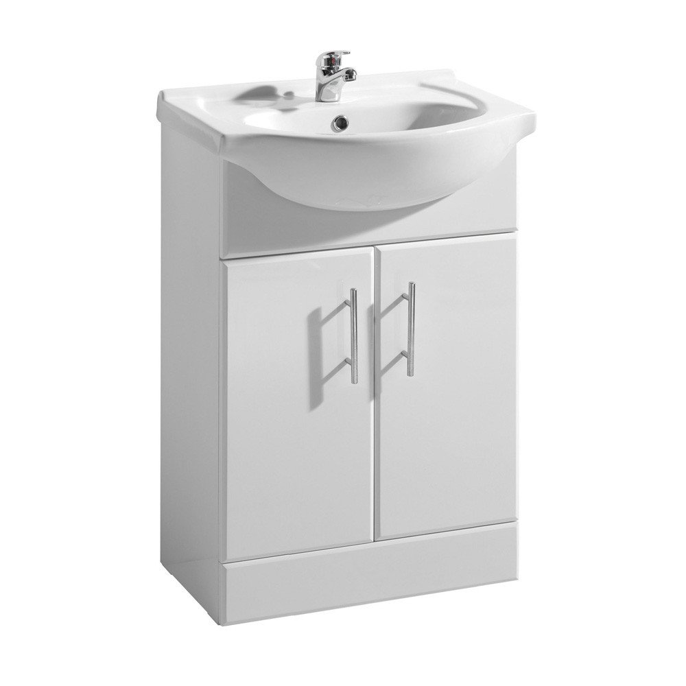 bathroom vanity unit basin 750 mm 75cm amazoncouk kitchen home