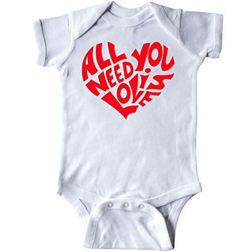 inktastic - All You Need is Love Red Heart Shape Infant Creeper 6 Months (Need Love Infant Bodysuit)