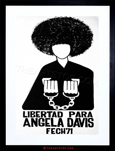 The Art Stop AD Political Angela Davis Civil Rights Black Panther Chile Framed Print F97X5888
