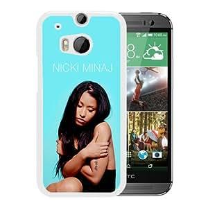 Hot Sale HTC ONE M8 Case ,nicki minaj White HTC ONE M8 Cover Case Unique Popular Designed Phone Case