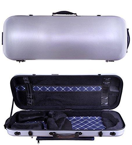 Tonareli Viola Oblong Fiberglass Case - Silver VAFO 1002 - Includes attachable music bag - Adjustable to over 18 inches [並行輸入品]   B07GTWW59X