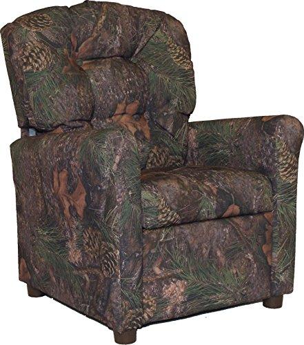 Brazil Furniture 400-mixed Pine camo Children's Button Back Recliner, Mixed