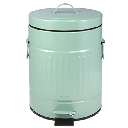 amazon com joahchen retro style garbage can household step pedal rh amazon com  vintage kitchen garbage can