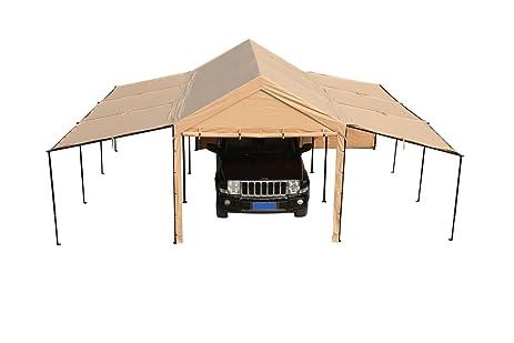 SORARA Carport 10 x 20 ft Heavy Duty Car Canopy Garage Versatile Shelter and Sidewalls with  sc 1 st  Amazon.com & Amazon.com : SORARA Carport 10 x 20 ft Heavy Duty Car Canopy ...