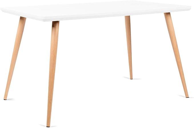 Mc Haus LATT - Mesa Comedor color Blanco de madera MDF diseño ...