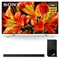 """Sony XBR-85X850F 85"""" BRAVIA 4K Ultra HD HDR Smart TV and HT-X9000F 2.1-Channel Dolby Atmos Soundbar with Subwoofer"""