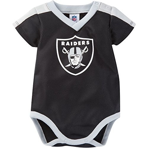 NFL Oakland Raiders Unisex-Baby Dazzle Bodysuit, Black, 3-6 Months