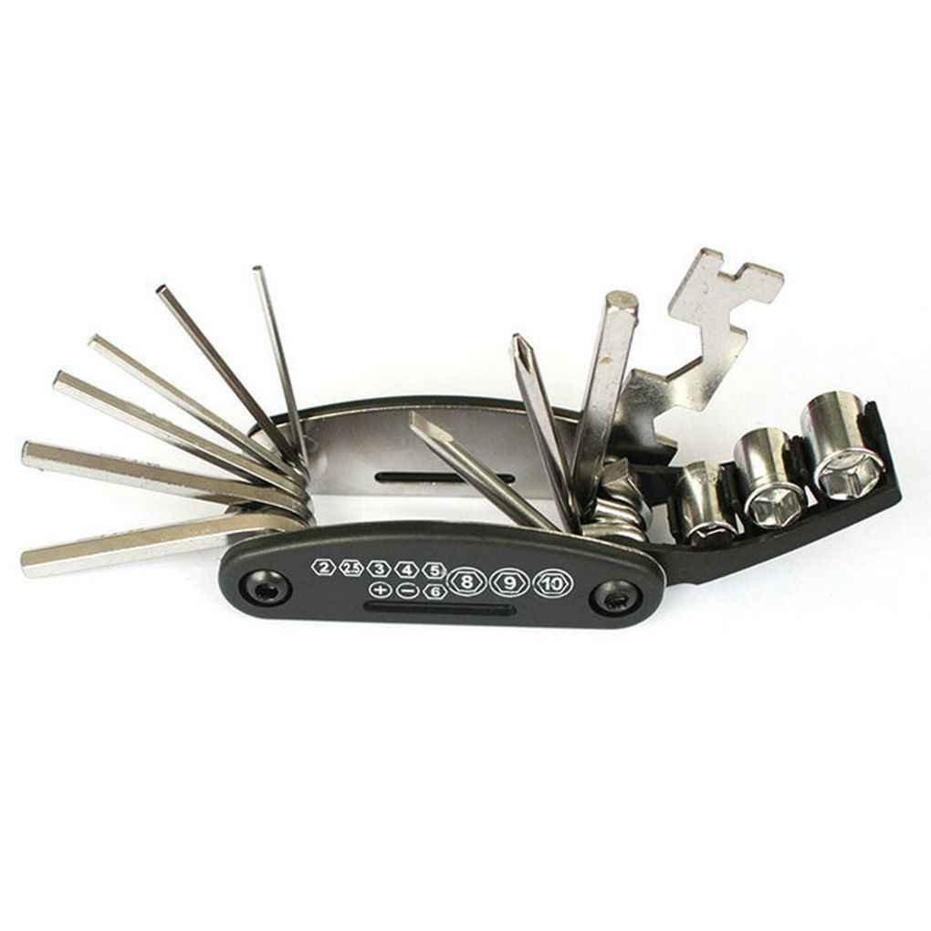 ELENXS Multifonctionnel 16 en 1 Vélo Vélo de réparation Tool Set