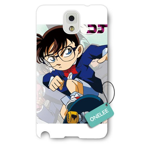Onelee(TM) Detective Conan Frosted Samsung Galaxy Note 3 Case & Cover - Japanese anime Case Closed Samsung N3 - White Frosted