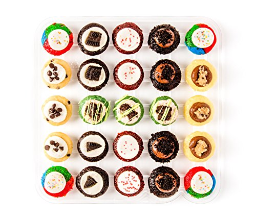 Baked by Melissa Cupcakes The P.S. O.G. (Party Safe - no nut flavors) - Assorted Bite-Size Cupcakes, 25 Count (Cupcakes By Baked Melissa)