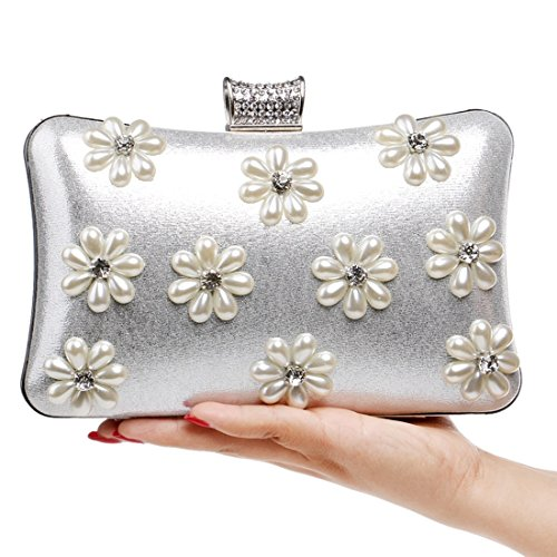bag new the ladies States bag and bag luxury dinner evening evening exquisite banquet Silver clutch Color BLACK Europe FLY ladies Fly53 snowflake fashion bag United xqpYAZt