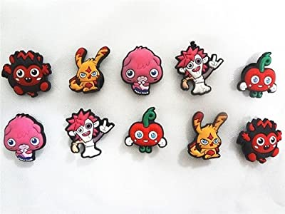 Set of 8 Moshi Monster Shoe Charms, Shoe Snap on Decorations, Charms, Buttons, Widgets, for Clogs, Crocs, and Bracelets