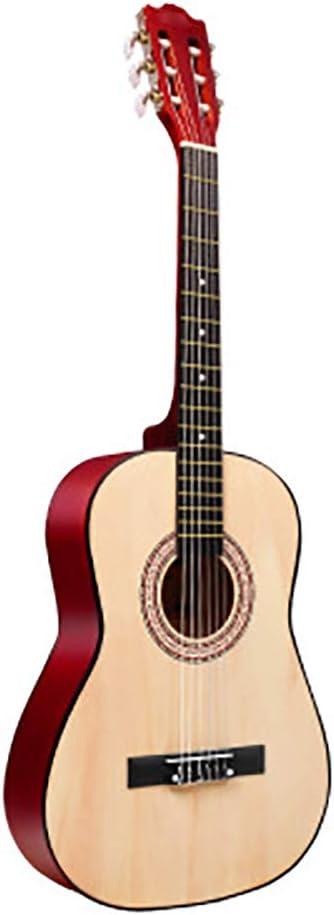 NUYI 30 Pulgadas 34 Pulgadas 36 Pulgadas Mate Redondeado Ciprés Completo Guitarra Acústica Clásica Principiante Enseñanza En El Hogar Unisex,34inchlogcolor