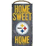 Pittsburgh Steelers Wood Sign - Home Sweet Home 6''x12''