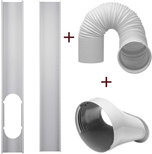 2Pcs Window Slide Kit Plate 5.90 Exhaust Hose for Portable Air Conditioner dezirZJjx Air Conditioner Accessories 5.9 Window Adapter Tube Connector