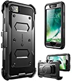 i-Blason ArmorBox Daul Layer (Full body) (Heavy Duty Protection ) Shock Reduction / Case with built in Screen Protector for Apple iPhone 7 2016 Release (Black)