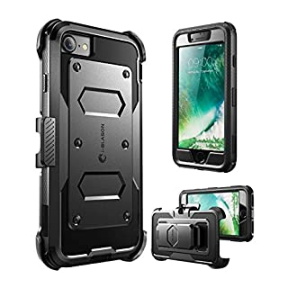 i-Blason Armorbox Case Designed for iPhone SE2 2020 /iPhone 7/iPhone 8, Built in  Screen Protector  Full-Body Rugged Holster Case for iPhone SE 2nd generation, Black