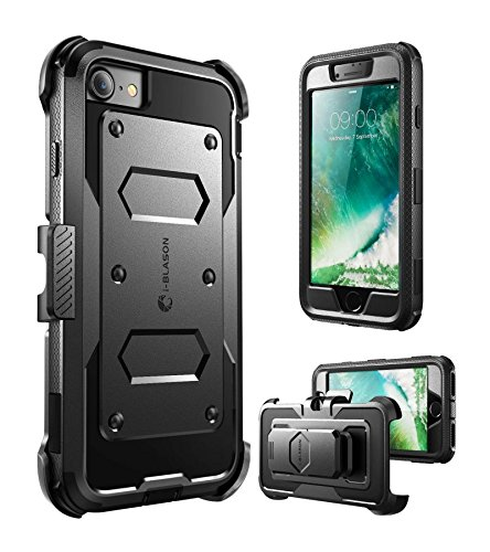 i-Blason Armorbox Series Designed for iPhone 7/Phone 8, Built in [Screen Protector] [Full Body] [Heavy Duty Protection ] Shock Reduction/Bumper Case (Black)