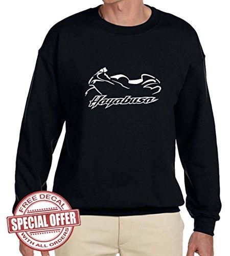Suzuki Hayabusa Classic Motorcycle Outline Design Sweatshirt 3XL (Suzuki Hayabusa T-shirt)