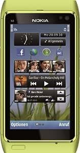 """Nokia N8-00 - Móvil libre (pantalla táctil de 3,5"""" 640 x 360, 16 GB de capacidad, S.O. Symbian 3) color verde [importado de Alemania]"""