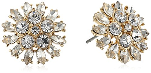 Carolee Petals and Pearls Collection Women's Cluster Stud Earrings, Gold/Crystal Carolee Jewelry