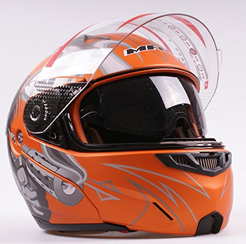 Amazon.com: WMN_TrulyStep New Dual / 2 Visors Modular Motorcycle Scooter Vespa Biker Full Open Face Jet Flip Up Integrated Helmet,8 Colors (L 59cm / 60cm, ...
