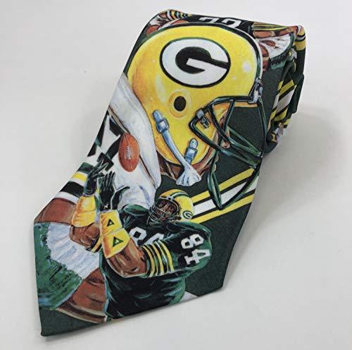 Fanimation Bay - Green Bay Packers 1990 Vintage NFL Necktie - Fanimation Throwback Collectors Tie