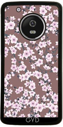 Funda de silicona para Moto G5 Plus - Flores De Cerezo Modelo Rosado by Nina Baydur