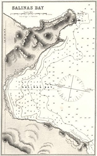 Salinas Mexico Map.Amazon Com Mexico Sea Chart Of Salinas Bay 1881 Map Kitchen Dining
