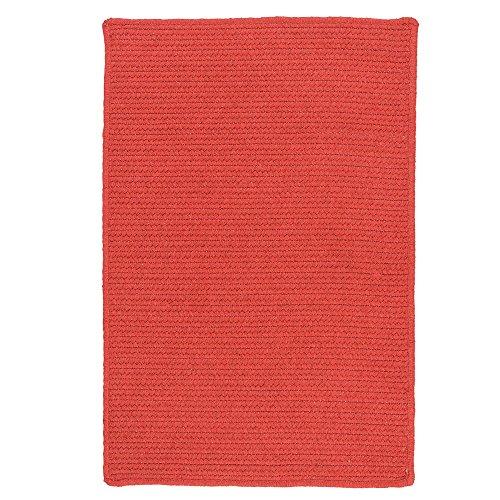 Garnet Braided Rug - Colonial Mills Sunbrella Solid Braided Area Rug (2'5 x 7') Garnet
