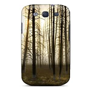 Premium Sun Through Bare Forest Back Cover Snap On Case Galaxy S3