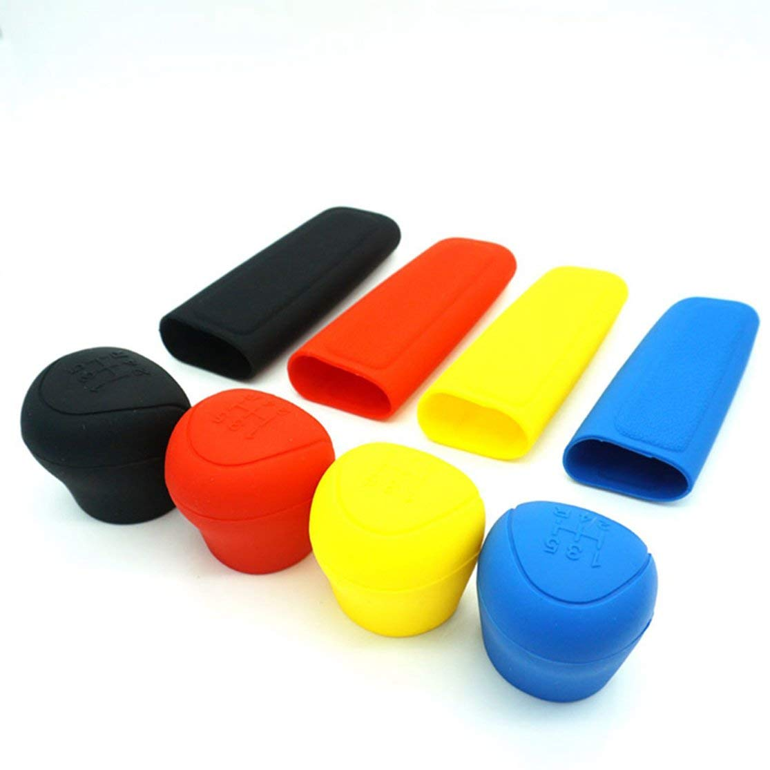 Color:black Car Silicone Gear Shift Knob Rod Cover Parking Car Hand Brake Grip Protective Cover Case Decoration Styler