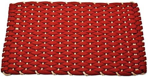 Rockport Rope Doormats 2034353 Indoor Outdoor Doormats, 20 by 34 , Rose with Tan Insert