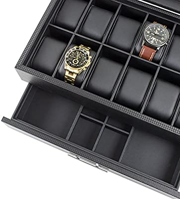Amazon.com: Caja de relojes con cajón para hombre ...