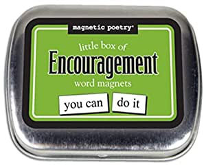 Magnetic Poetry - Little Box of Encouragement Kit - Words for Refrigerator - Write Poems and Letters on the Fridge - Made in the USA