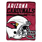 "Officially Licensed NFL Arizona Cardinals ""40 Yard Dash"" Micro Raschel Throw Blanket, 46″ x 60″, Multi Color"