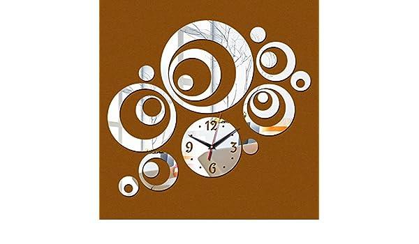 Amazon.com: Treading - New Wall Clock Horloge Modern Design Reloj De Pared Large Decorative Digital Watch Living Room 3d Diy Acrylic Mirror [ Silver ]: Home ...