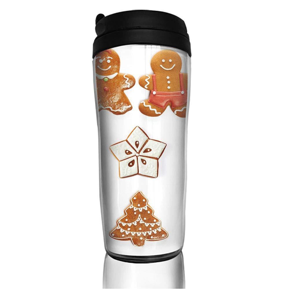 ステンレススチール 断熱 コーヒー トラベルマグ クリスマス ジンジャーブレッド ビスケットセット 雪の結晶 家 こぼれ防止 フリップ蓋 断熱 コーヒーカップ 保温 保冷 11.8オンス (350ml) カスタマイズ可 350ML zhiwen_CofeeB08621 350ML カラー1 B07MB3C822