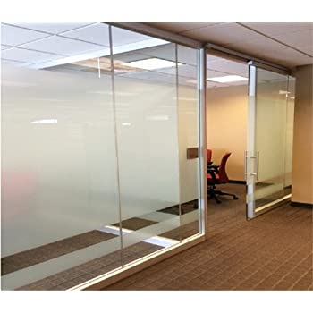 Beautyhero Privacy Window Film Frosted Static Cling Window Film Suitable  for All Kinds of Smooth Glass