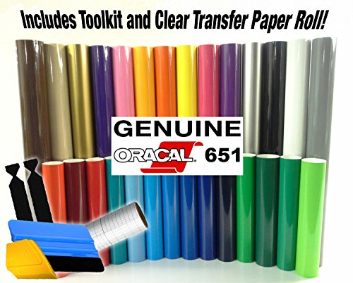 oracal-651-vinyl-starter-kit-bundle-for-cricut-silhouette-cameo-incl-3m-installation-toolkit-6-rolls