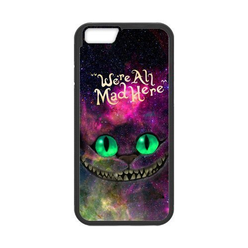 Iphone 6/6S Protective Case -Nebula Galaxy Space Cheshire Cat Hardshell Cell Phone Cover Case for New Iphone 6/6S