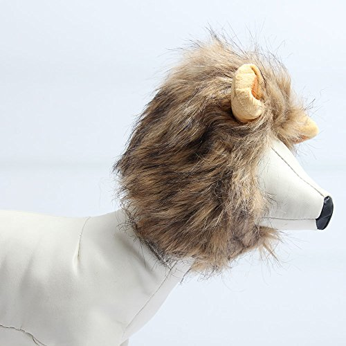 Cats Lion Mane Christmas Costumes Cat Hat Pet Lion Head Small Dogs by royalwise (Image #1)