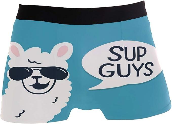 Men Underwear Blue Shark Elastic Boxer Briefs Soft Breathable S for Boyfriend Father