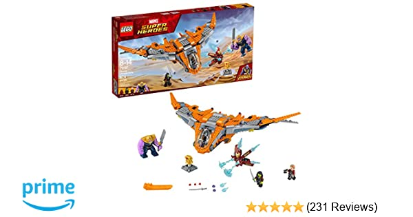 LEGO Marvel Super Heroes Avengers: Infinity War Thanos: Ultimate Battle  76107 Guardians of the Galaxy Starship Action Construction Toy and Building